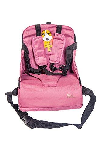 Imagen para Trona portátil para bebés. Asiento plegable de viaje. Alzador infantil con bolsillos. Se acopla al respaldo de cualquier silla. Bolsa para transportarla (Incluida)
