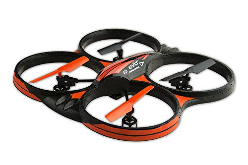 NincoAir - Quadrone Evo Cam, color negro y naranja (NH90088)