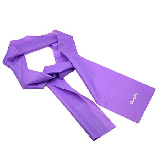 Jjunlim 1,5 metri in lattice fitness resistenza bande elastiche fasce elastiche fascia di allenamento per pilates yoga, allenamento palestra crossfit o riabilitazione (1.5m purple)