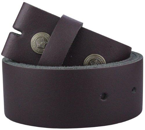 2Store24 Cinturón de cuero sin hebilla | Cinturón para hebillas en burdeos| Tamaño de la cintura: 115cm
