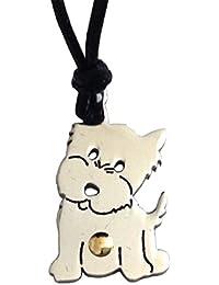 Gogo Cachorro Colgante de Acero hipoalergénico y Oro