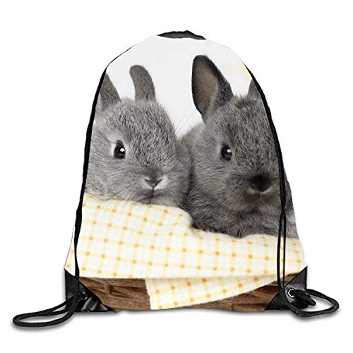ZHIZIQIU Drawstring Backpack String Bag Sports Waterproof Sackpack Bunnies IN Basket Gymsack Gym Cinch Sack Bunny Sexy Velvet