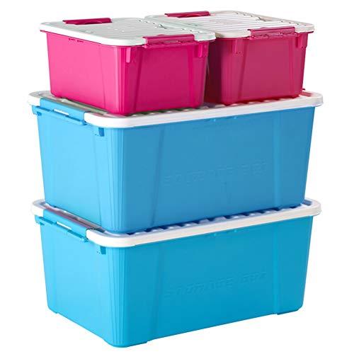 Goli-Storage Große Kunststoff-Aufbewahrungsboxen mit Deckel, stapelbarer Behälter mit Griff, Organizer-Aufbewahrungsbox-Set df 4 - wirklich nützliche Box (35L + 10L)