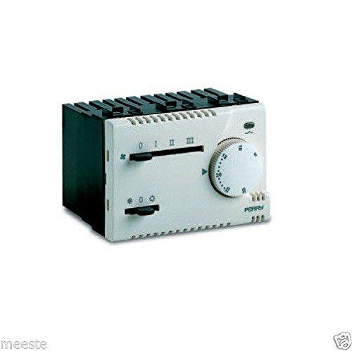 Thermostat-fan-schalter (Thermostat Elektronisch eingebaut Perry 1TI tef365MC MODUL H 45mm Thermostat Elektronisch für Fan Coil Unterputz Schalter est-off-inverno Hebel Geschwindigkeit Ventilator fermo-lento-medio-veloce LED Statusanzeige Relais 230V Raumthermostat in Promo)