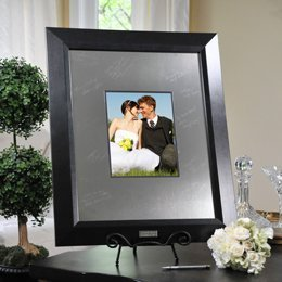 Wedding Favors Contemporary Signature Picture Frame with Engraved Photo Mat by Cathy's Concepts