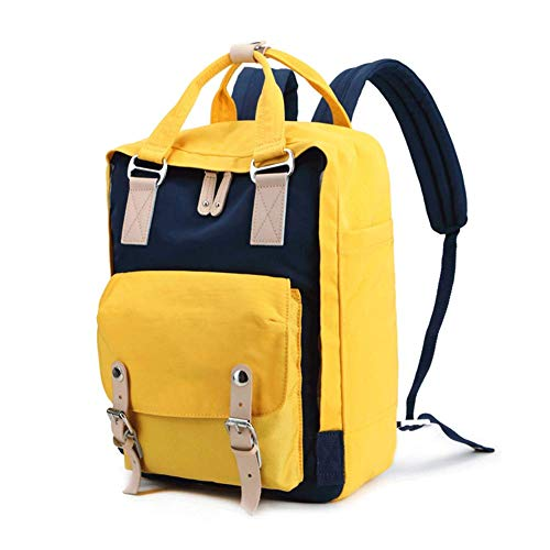 Hiking Rucksack Camping Daypack Pack Bag with Solar Power Board and Laptop Backpack for Laptop with USB Charging Port Repellent School Travel Casual Daypack Travel Laptop,Slim Lightweight Bag-gelb -