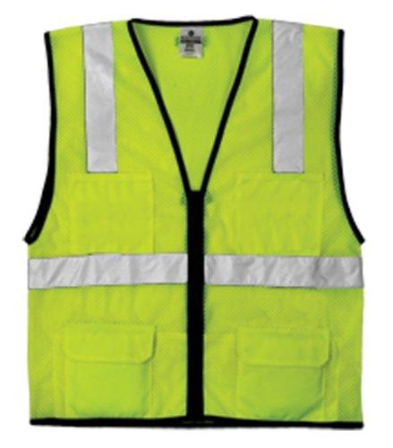 ML Kishigo 1191 Economy Series Ultra Cool Mesh 6 Pocket Vest, Fits 2X-Large and 3X-Large, Lime by ML Kishigo (Fit 6-pocket)