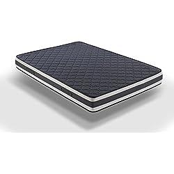 Hogar24 Colchón viscoelástico viscoelastica de Doble Cara (Verano e Invierno) VISCO-MEDICOT 3D- 135x180