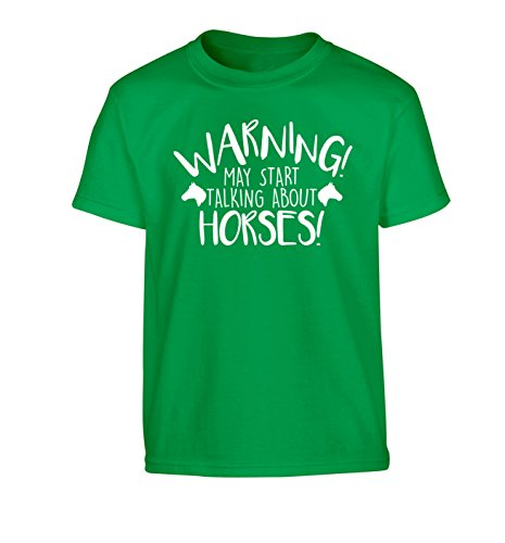 Warning may start talking about my horse Children's T-Shirt Ages