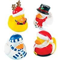 Baker Ross Funky Christmas Ducks Perfect Christmas Stocking Filler for Children (Pack of 4)