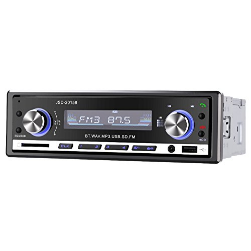 GHB Autoradio Auto-Bluetooth-Audio Stereo Empfänger In-Dash Radio FM USB MP3 AUX SD Karte mit Fernbedienung