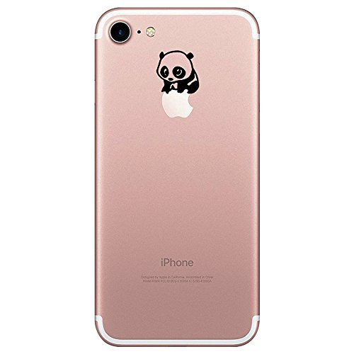 Pacyer® iPhone 7 Custodia Panda Transparente TPU Gel Silicone Protettivo Skin Shell Case Cover Per Apple iPhone 7 (4.7) 7