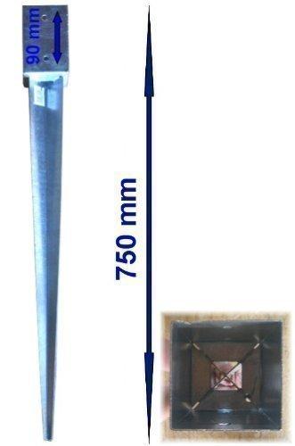 erdhuelsen Einschlagbodenhülse Bodenanker 71x71mm