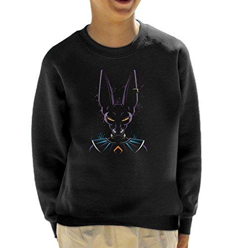 Cloud City 7 Dragon Ball Z Beerus Paint Splatter Kid's Sweatshirt