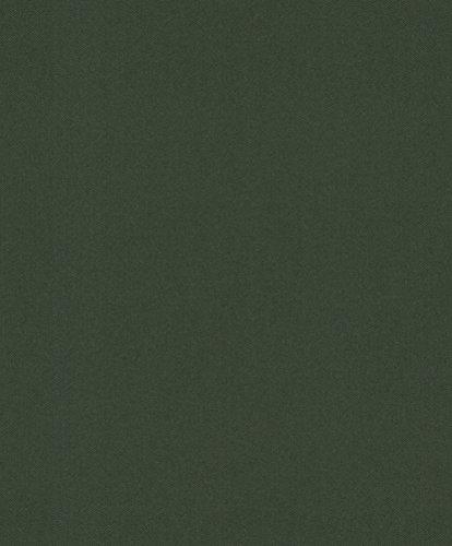 rasch Tapete 860245 aus der Kollektion b.b home passion VI - Einfarbige Vliestapete in Dunkelgrün mit körniger Struktur - 10,05m x 53cm (L x B)