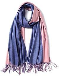 Trend Fabric Écharpe Automne Et Hiver Femmes Double Face Couleur Unie  Imitation Cachemire Polyvalent Chaud Châle Cadeau Boîte 200  … b7b28e5dd39