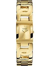 Guess Damen-Armbanduhr Chained Analog Quarz Edelstahl beschichtet W0003L2