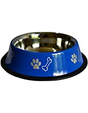 Foodie Puppies Stainless Steel Dog Food Bowl Colour May Vary (Medium)