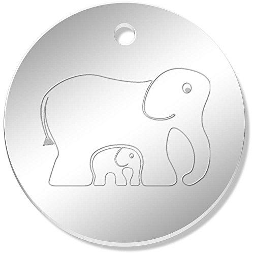 Azeeda 11 x 34mm 'Elefantes' Colgante Reflejado (PN00015131)