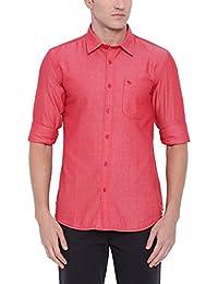 Blue Wave 100% Cotton Casual Shirt For Men