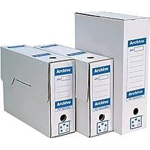 5 Star 922587 - Cajas de archivo definitivo, de cartón, 430 x 316 x116 mm, color blanco