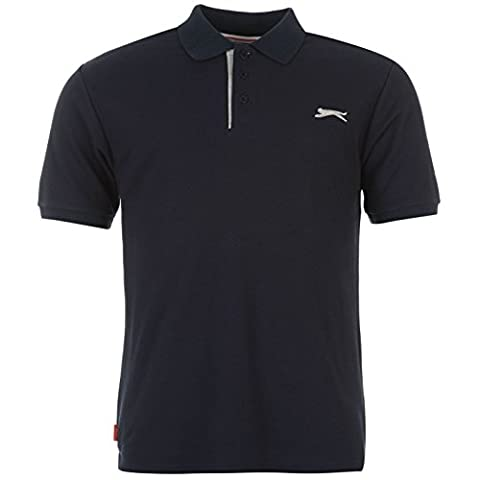 Polo Slazenger - SLAZENGER T-shirt Polo pour Homme Uni Bleu
