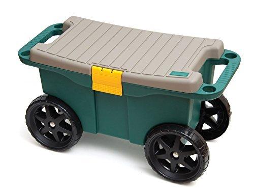Seat N' Roll - Sgabello da giardinaggio, con rotelle  Leggero Sgabello su ruote Con scomparto porta utensili   Attrezzi da giardino. Giardinaggio.