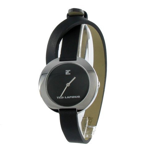 Ted Lapidus A0300RNNN - Reloj de caballero de cuarzo, correa de piel color negro