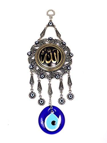 Wanddeko Wandschmuck Deko - Allah Islam Muslim - Nazar Boncuk - Glücksbringer blaues Türkisches Auge