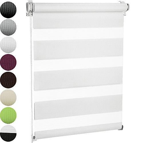 Jago Doppelrollo Seitenzugrollo Klemmrollo in verschiedenen Farben & Größen, Seitenzugrollo inkl. Montagematerial (40 x 100 cm)