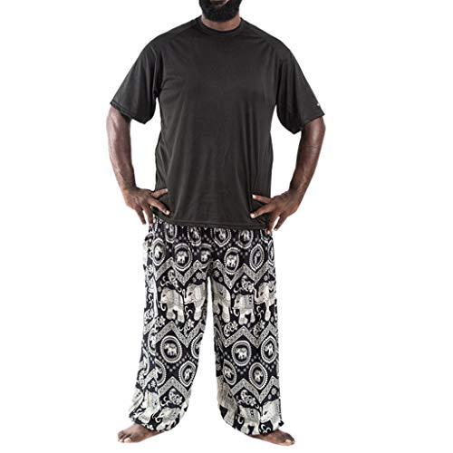 Kapian-e Herren Haremshose Boho Hippie Hose Yoga Hosen Sport Yogahosen Bündel von Bloomers Verlieren Damenbekleidung…