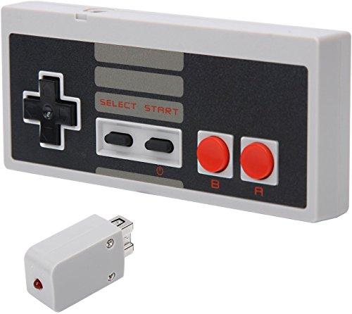 Wireless Funk Game-Controller Gamepad Mit 10 Meter Reichweite Mit eingebautem Akku Play & Charge passend für Nintendo Classic Mini NES, Hersteller: Y-Mai