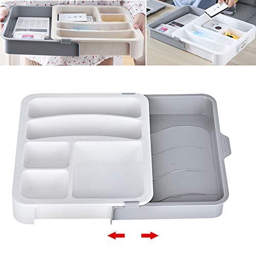 Towinle Schubladen Organizer Set Ordnungssystem für Küche Büro Schminktisch Kosmetik Variabel Schubladen-Einteiler Trennsystem (Weiß)