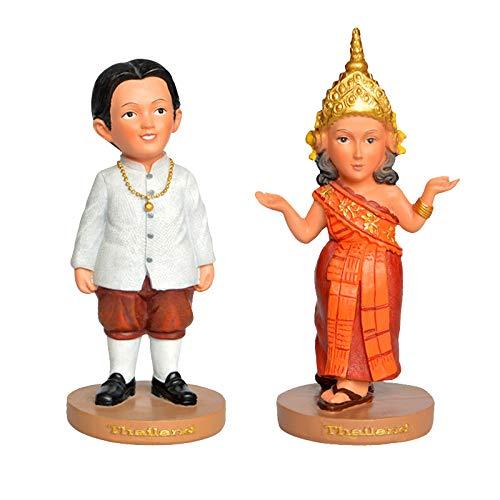 Volkstrachten Der Welt - Indian Paar Figuren Valentinstag Jahrestag Hochzeit