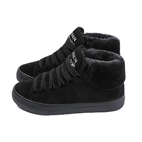 �rmen Stiefel Wildleder Outdoor Winter Feder lässige Schuhe langlebige weibliche Schneeschuhe ()
