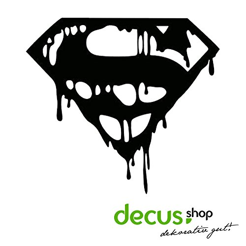 Superman Drip Blood Logo // Sticker OEM JDM Style Aufkleber (Weiß)