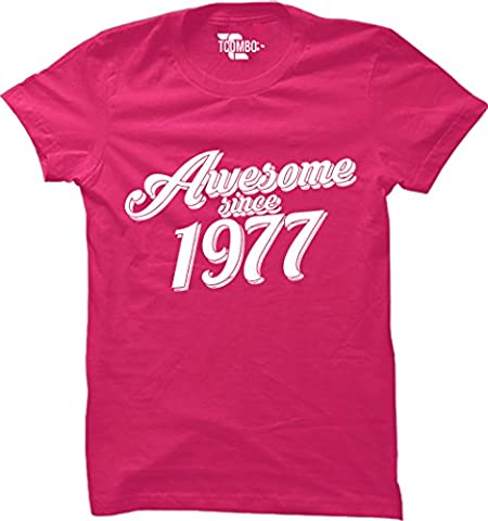 Grossbull Awesome Since 1976 - 40th Birthday Gift Anniversary WOMENS T-shirt Large