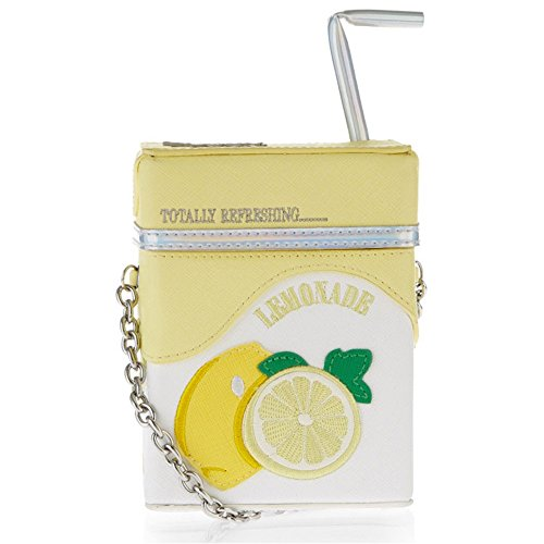 Baggaglle Damen Geldbörse Eiscreme-Süßigkeit-Farben-Sommer-Geldbeutel-Mini Nullbrieftasche Schräg Milch-Kasten-Form-Frauen PU-Mappe Kreditkarteninhaber für Geschenke (Farbe : Gelb) -