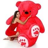 ESTON Premium Soft Teddy Bear Especially for Girls/Gifts/Boys/Kids (RED, 3-FEET)