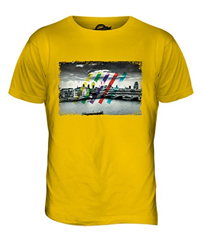 CandyMix London Skyline Herren T Shirt Dunkelgelb