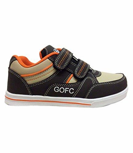 Crianças Unissex Sneakers Velcro Meninas Sapatos Sportswear Laranja