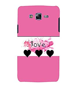Vizagbeats love hearts Back Case Cover for Samsung Galaxy J7::Samsung J7 2015