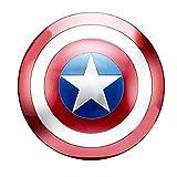 B&T Captain America Bouclier Full Metal Ordinateur de Poche Édition de Film Bar Creative Doux Décoration Murale Pendentif en Aluminium Amérique Accessoires Accessoires Cosplay Shield Adulte