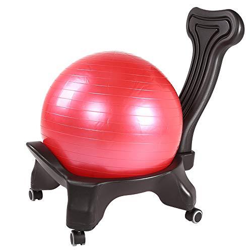 ZJY Balance Ball Chair - Respaldo Plegable Ruedas bloqueables universales con Bola,...