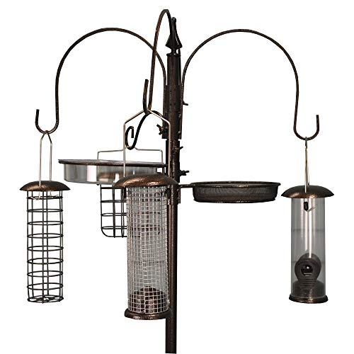 Selections Futterstation für Vögel, Metall, komplett mit 4 Futterstellen