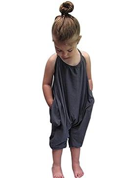 Blusa de niña, RETUROM Nuevo vestido de la muchacha de los monos de las correas del verano de la manera