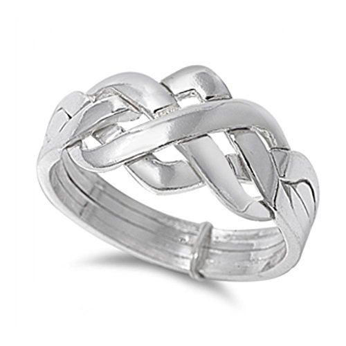 Sterlingsilber 4pc Puzzle Ring Ring