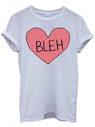 Bleh Broken Pink Heart Whatever Cool Funny Hipster Swag White Weiß Damen Herren Men Women Unisex Top T-Shirt Weiß