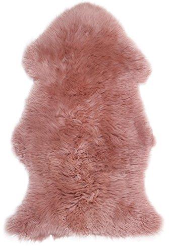 Lambland Super Weiche Große echtes Schaffell Teppich in Dark Pink von Größe 100cm x 70cm, dunkelrosa, 100cm x 70cm - Echtem Schaffell