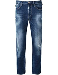 a79ad404e9f Armani Hommes Jeans en détresse J06 Slim Fit Denim Bleu